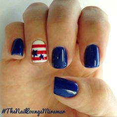 july 4th nail designs | gel polish | acrylic | blue | stars | independence day | short | easy and simple