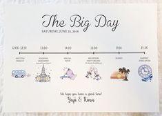 招待状に同封しましょ♡結婚式当日の流れを絵にするペーパーアイテム『タイムライン』デザイン特集♩