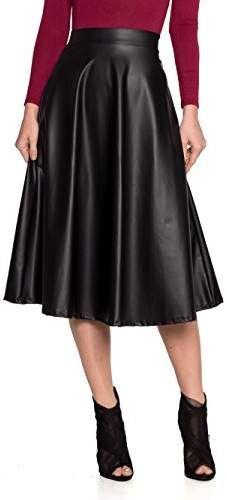 9baf16dc419 Women s J2 Love Faux Leather Flare Skirt