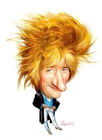 Rod Stewart Animated Cartoon Characters, Classic Cartoon Characters, Cartoon Faces, Classic Cartoons, Funny Faces, Funny Caricatures, Celebrity Caricatures, Celebrity Drawings, Rod Stewart