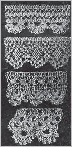 pretty crocheted edging/inspiration at this point. . . looking for diagram patterns for these:)  ~pp
