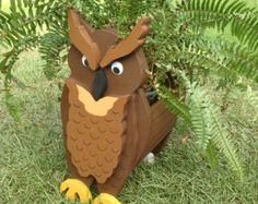 Jardinera de madera Animal - buho
