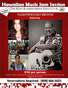 This event is already booking up!  Did you make your Valentine's Day Brunch Reservation?  Call (808) 866-5025