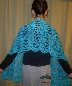 Stop and Stare Crochet Shawl. I've used this pattern for a shawl, for a couple afghans and for a scarf. So pretty!