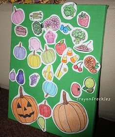 the hungry pumpkin felt board.  Great ideal to use for the month of October or November depending on the ending you choose.  Why not do both.