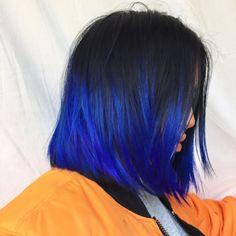 ❣︎「♡ k i m ♡✌︎」❣︎ - Hair - cheveux Crazy Colour Hair Dye, Hair Dye Colors, Hair Color Blue, Cool Hair Color, Ombre Colour, Blue Ombre, Red Colour, Bright Blue Hair, Royal Blue Hair