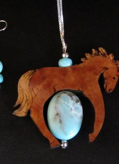 Amazonite in Gourd Wood Horse