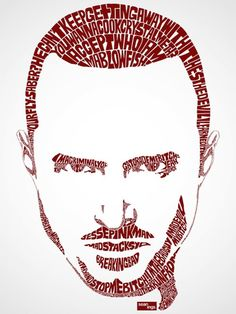 typography celebrities 4 Portraits de stars en typographie