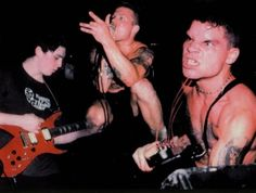 The Cro-Mags circa mid '80s (from left): Parris Mitchell Mayhew, John Joseph, and Harley Flanagan