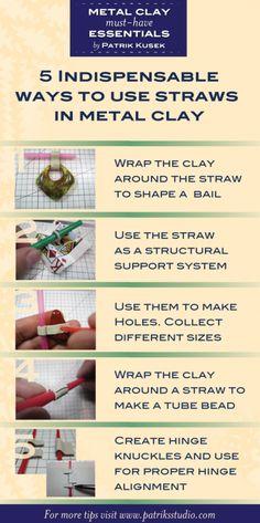 Metal Clay Essentials Straws by Patrik Kusek