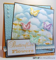 The Quiet Moments: Spring Butterflies Card by Taylor Usry @Shari Brown Brown Brown Brown Snider Crafts  #crafterscompanion