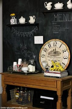 Entertaining | Set Up a Hot Cocoa Bar and let the kids or guests help themselves