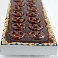 Dark Chocolate and Pretzel Tart by Shadesofcinnamon