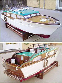 Chris Craft cabin cruiser...I would really love one.this one, is just retro badass........
