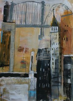 Dennis Campay, mixed media on paper.  COVET.