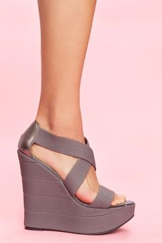 Bound Platform Wedge - Slate from Nasty Gal <3