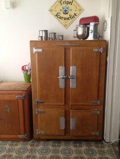 Glaciere chambre froide bois art deco kelvinator frigo de - Chambre froide d occasion belgique ...