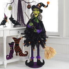 new for halloween 2012 the raz imports ghastly graveyard collection filled with witches spiders
