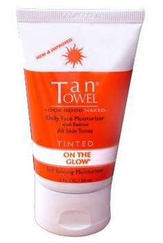 Tantowel On The Glow - Tinted 2 fl oz. by Tan Towel. $16.95. Darkens the skin over time without stains or dyes. Creates a natural-looking glow that won't streak, stain clothing, or look orange. Hydrates with jojoba and avocado oils. Skin will becomes noticeably darker after just one week of use. Ideal for use during colder seasons. Daily Body Moisturizer for all skin tones. Gradually develop a sun-kissed glow just by moisturizing. On the Glow daily moisturizer is the...