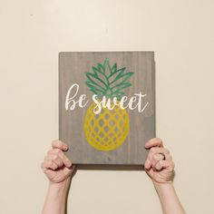 Pineapple Sign - Pineapple Decor - Wooden Sign - Home Decor - Pineapple Wooden…