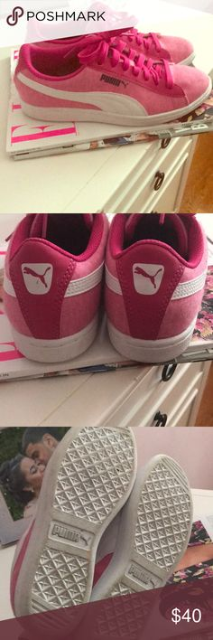 8564e5598c69 Puma hot pink soft foam sneakers Super comfortable soft foam sneakers from  puma super pink! And cute only worn once in fantastic condition Puma Shoes  ...