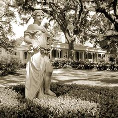 The Myrtles Plantation  Visitors of the St. Francisville, Louisiana plantation tell stories of a young woman wandering its halls wearing a distinctive green bonnet. It's rumored to be the ghost of a young slave Chloe, who wore her bonnet to conceal a missing ear.
