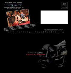 Season Nine brochure cover for Chenango River Theatre - by eGraphics Brochure Cover, Theatre, Seasons, Graphic Design, River, Artist, Movie Posters, Film Poster, Theater