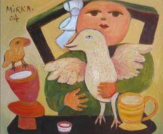 Mirka Mora - At the Table Vintage Book Covers, Face Art, Art Faces, List Of Artists, Tea Art, Global Art, Australian Artists, Vintage Postcards, Artist At Work