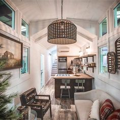 Tiny House Ideas: Inside Tiny Houses - Pictures of Tiny Homes Inside and Out (videos too!) Inside tiny houses images - see tiny house interiors and exteriors, floor plans and more - pictures of tiny houses inside and out Tiny House Big Living, Tiny House Cabin, Tiny House Plans, Tiny House On Wheels, House Floor Plans, Tiny House Exterior Wheels, Tiny Home Floor Plans, Inside Tiny Houses, House Inside