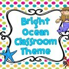 I made this to use for my classroom since I changed my classroom décor theme to the ocean. I just love using bright colors in my classroom!  Includ...