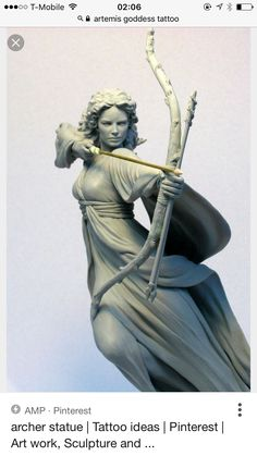 Artemis (Diana) was the goddess of the hunt and the moon. She is the twin sister of Apollo. Image Source: Sculpture of Artemis shooting an arrow. Potnia Theron, His Dark Materials, Fantasy Kunst, Art Sculpture, Greek Gods, Gods And Goddesses, Greek Mythology, Oeuvre D'art, Sculpting