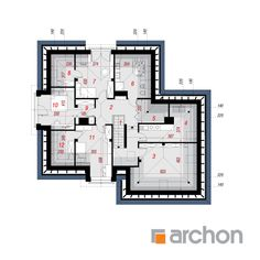 Projekt domu Dom w rukoli 5 (G2N) - ARCHON+ Floor Plans, Two Story Houses, Floor Plan Drawing, House Floor Plans