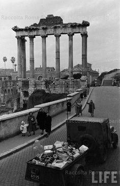 Italian Vintage Photographs ~ #Italian #Vintage #Photographs ~ Vanished Rome - Roman Forum