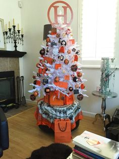 Hermes Christmas tree. Designer Christmas. Luxury Christmas at my house in 2015