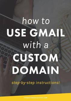 How to Use Gmail With Your Own Custom Domain | Want to use Gmail with your own website domain name? It will make your business look super professional and you'll get full access to Gmail's features! This step-by-step guide is perfect for bloggers, freelancers, and entrepreneurs. Woo!