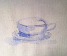 I found an old watercolor drawing if a teacup - just to practice painting. Funny looking at old paintings. Copyright by www.anne-mette.com  #teacup  #watercolorpainting #watercolor #practice #akvarell #akvarelmaling #simpel #onecolor #blue #bleu #blå #the #thekop #artgallery #exhibition #makeitsimple #tea #akvarel #lovepainting #artlover #kunst #art #pinterest #email #www.anne-mette.com