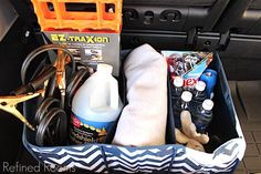 organizing your car during the holiday break @ Refinedroomsllc.com