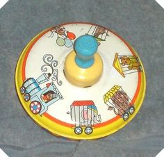 Vintage-Ohio-Arts-Toy-Metal-Spinning-Top