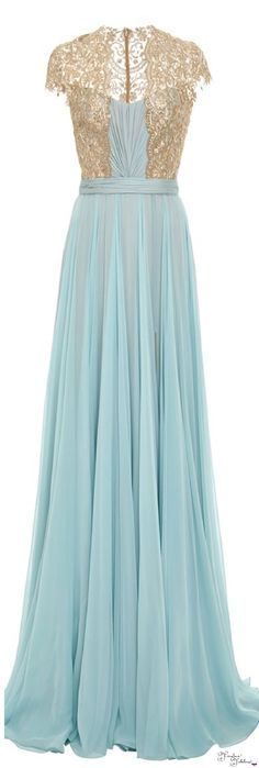 A-line Chiffon &Lace Cap Sleeves Belt Floor Length Bridesmaid Dress For Beauty and the Beast