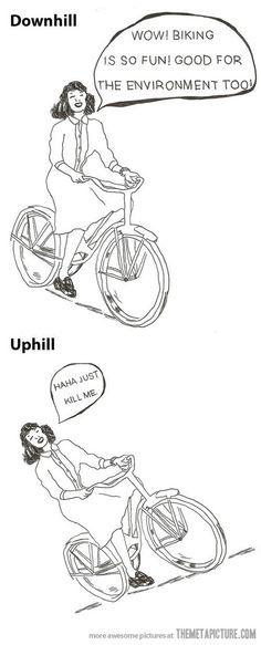 Biking is so fun…