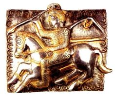 Celtic warrior in the hunting scene from the Letnitza treasure (Lovech region), Bulgaria, possibly a member of the Scordisci, an ancient Celtic tribe who inhabited the area in pre-Roman times.