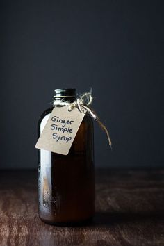 Ginger Simple Syrup - so easy and adds just the right touch to your cocktails!