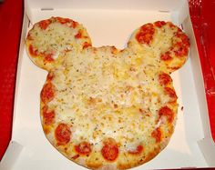 Mickey Mouse shape pizza!