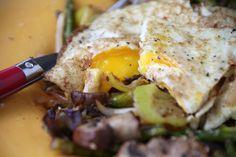 Eggs Over Easy with Sautéed Vegetables