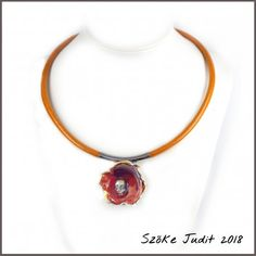 glass lampwork bead with M2.5 curved tube pendant bail.