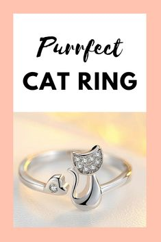 This is the purrfect piece of jewelry for any cat mom or cat lover! Dog Jewelry, Animal Jewelry, Cat Lover Gifts, Cat Lovers, Personalized Phone Cases, Cat Products, Dog Necklace, Cat Ring, Cat Face