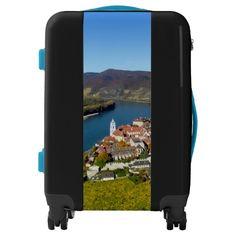 Custom Luggage with beautiful Austrian Scene