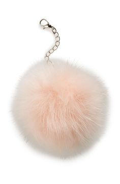 Lulu+Faux+Fur+Pom+Keychain+available+at+#Nordstrom