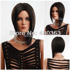 New arrival cosplay party black short straight women's wigs/high quality new star hair fashion wig/wigs synthetic for women New Star Hair, Wig Hat, High Quality Wigs, Cheap Wigs, Black Wig, Bob, Womens Wigs, Doll Parts, Wig Styles