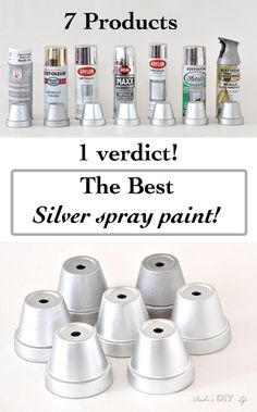 Which is the Best Silver Spray Paint Frustrated with trying to find the best silver spray paint? Here is a comparison of 7 products to help you pick your favorite metallic silver spray paint! Silver Spray Paint, Diy Spray Paint, Paint Stain, Chrome Spray Paint, Silver Metallic Paint, Spray Paint Projects, Spray Paint For Plastic, Spray Paint For Metal, Brushed Nickel Spray Paint